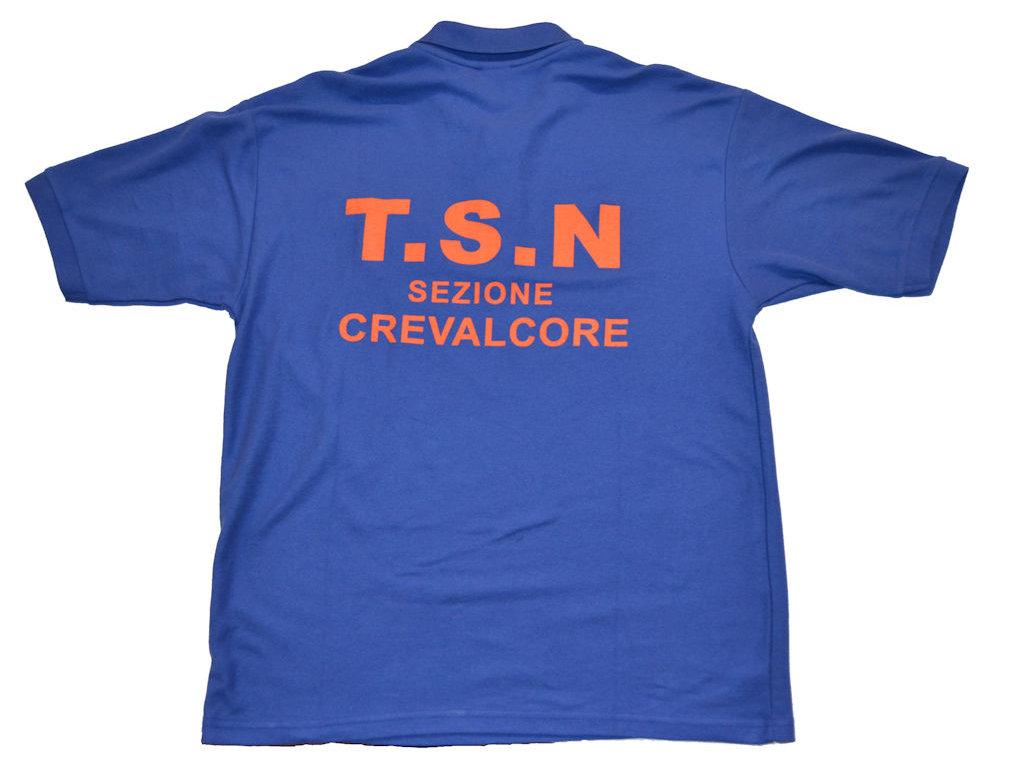 Polo TSN Crevalcore lato retro